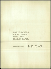 Abbot Academy - Circle Yearbook (Andover, MA) online yearbook collection, 1938 Edition, Page 6 of 124