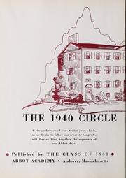 Abbot Academy - Circle Yearbook (Andover, MA) online yearbook collection, 1940 Edition, Page 6