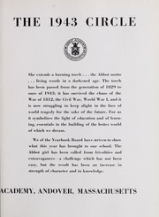 Abbot Academy - Circle Yearbook (Andover, MA) online yearbook collection, 1943 Edition, Page 7