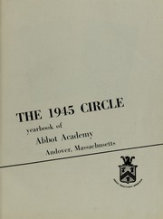 Page 7, 1945 Edition, Abbot Academy - Circle Yearbook (Andover, MA) online yearbook collection