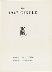 Abbot Academy - Circle Yearbook (Andover, MA) online yearbook collection, 1947 Edition, Page 5
