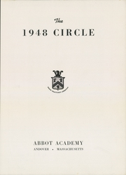 Abbot Academy - Circle Yearbook (Andover, MA) online yearbook collection, 1948 Edition, Page 5 of 62