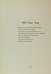 Abbot Academy - Circle Yearbook (Andover, MA) online yearbook collection, 1952 Edition, Page 84