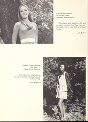 Abbot Academy - Circle Yearbook (Andover, MA) online yearbook collection, 1970 Edition, Page 56