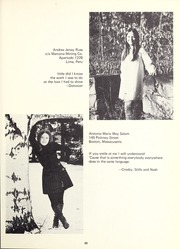 Abbot Academy - Circle Yearbook (Andover, MA) online yearbook collection, 1970 Edition, Page 69