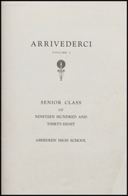 Aberdeen High School - Arrivederci Yearbook (Aberdeen, MD) online yearbook collection, 1938 Edition, Page 3