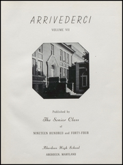 Aberdeen High School - Arrivederci Yearbook (Aberdeen, MD) online yearbook collection, 1944 Edition, Page 5