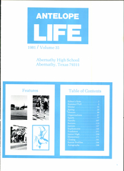 Abernathy High School - Antelope Life Yearbook (Abernathy, TX) online yearbook collection, 1981 Edition, Page 5