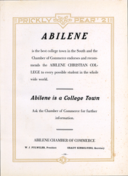 Abilene Christian College - Prickly Pear Yearbook (Abilene, TX) online yearbook collection, 1921 Edition, Page 200