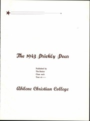 Page 7, 1943 Edition, Abilene Christian College - Prickly Pear Yearbook (Abilene, TX) online yearbook collection