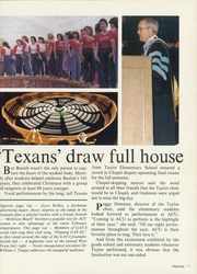 Page 11, 1982 Edition, Abilene Christian College - Prickly Pear Yearbook (Abilene, TX) online yearbook collection
