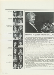 Abilene Christian College - Prickly Pear Yearbook (Abilene, TX) online yearbook collection, 1982 Edition, Page 390