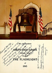 Abilene High School - Flashlight Yearbook (Abilene, TX) online yearbook collection, 1945 Edition, Page 7