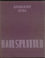 Abraham Lincoln High School - Railsplitter Yearbook (Des Moines, IA) online yearbook collection, 1940 Edition, Cover