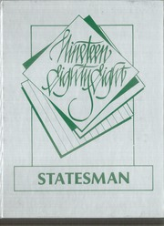 Abraham Lincoln High School - Statesman Yearbook (San Diego, CA) online yearbook collection, 1988 Edition, Cover