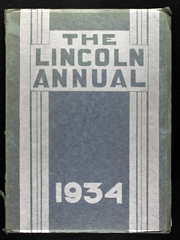 Abraham Lincoln Junior High School - Annual Yearbook (Rockford, IL) online yearbook collection, 1934 Edition, Cover