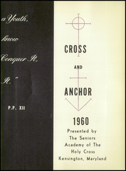 Page 7, 1960 Edition, Academy of the Holy Cross - Cross and Anchor Yearbook (Kensington, MD) online yearbook collection