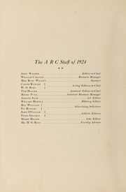 Page 10, 1924 Edition, Academy of Richmond County High School - Arc Yearbook (Augusta, GA) online yearbook collection