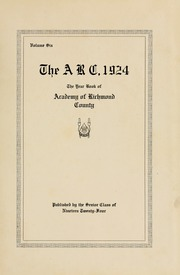 Page 7, 1924 Edition, Academy of Richmond County High School - Arc Yearbook (Augusta, GA) online yearbook collection
