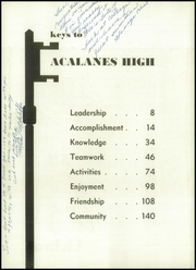 Acalanes High School - Aklan Yearbook (Lafayette, CA) online yearbook collection, 1959 Edition, Page 6
