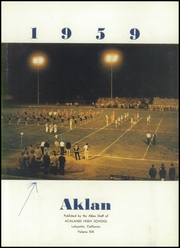 Acalanes High School - Aklan Yearbook (Lafayette, CA) online yearbook collection, 1959 Edition, Page 7 of 160