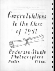 Adams High School - Argo Yearbook (Adams, MN) online yearbook collection, 1941 Edition, Page 111 of 116