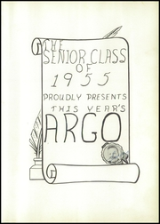 Adams High School - Argo Yearbook (Adams, MN) online yearbook collection, 1955 Edition, Page 5 of 68