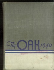 Adamson High School - Oak Yearbook (Dallas, TX) online yearbook collection, 1940 Edition, Cover