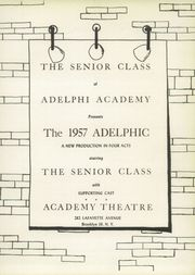 Page 7, 1957 Edition, Adelphi Academy - Adelphic Yearbook (Brooklyn, NY) online yearbook collection