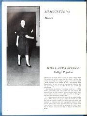 Page 8, 1963 Edition, Agnes Scott College - Silhouette Yearbook (Decatur, GA) online yearbook collection