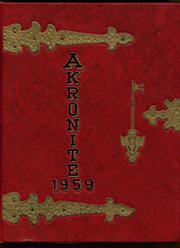 Akron Central School - Akronite Yearbook (Akron, NY) online yearbook collection, 1959 Edition, Cover