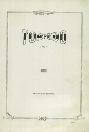 Page 7, 1925 Edition, Akron High School - Torpedo Yearbook (Akron, IA) online yearbook collection