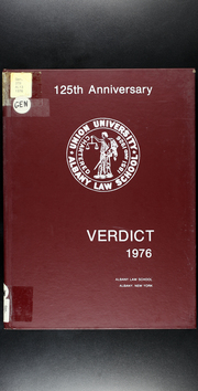 Albany Law School - Verdict Yearbook (Albany, NY) online yearbook collection, 1976 Edition, Cover