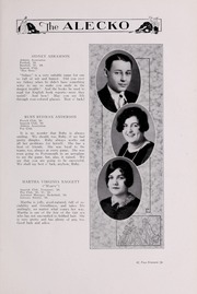 Alexandria High School - Alecko Yearbook (Alexandria, VA) online yearbook collection, 1928 Edition, Page 23 of 124