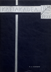 Alfred University - Kanakadea Yearbook (Alfred, NY) online yearbook collection, 1933 Edition, Cover