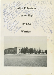 Alice Robertson Junior High School - Warrior Yearbook (Muskogee, OK) online yearbook collection, 1974 Edition, Page 5