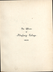 Page 11, 1890 Edition, Allegheny College - Kaldron Yearbook (Meadville, PA) online yearbook collection
