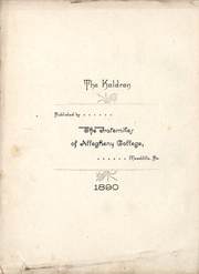Page 6, 1890 Edition, Allegheny College - Kaldron Yearbook (Meadville, PA) online yearbook collection