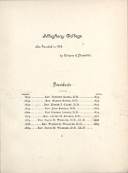 Page 7, 1890 Edition, Allegheny College - Kaldron Yearbook (Meadville, PA) online yearbook collection