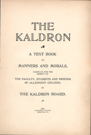 Page 12, 1898 Edition, Allegheny College - Kaldron Yearbook (Meadville, PA) online yearbook collection