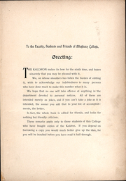 Page 14, 1898 Edition, Allegheny College - Kaldron Yearbook (Meadville, PA) online yearbook collection