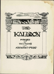 Page 11, 1922 Edition, Allegheny College - Kaldron Yearbook (Meadville, PA) online yearbook collection