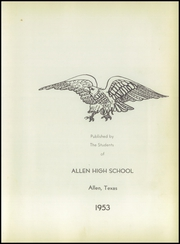 Page 7, 1953 Edition, Allen High School - Eagle Yearbook (Allen, TX) online yearbook collection