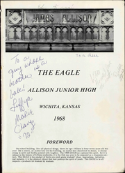 Page 7, 1968 Edition, Allison Junior High School - Eagle Yearbook (Wichita, KS) online yearbook collection