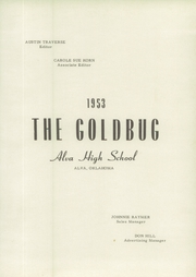 Page 7, 1953 Edition, Alva High School - Goldbug Yearbook (Alva, OK) online yearbook collection