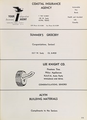 Alvin High School - Yellow Jacket Yearbook (Alvin, TX) online yearbook collection, 1963 Edition, Page 219
