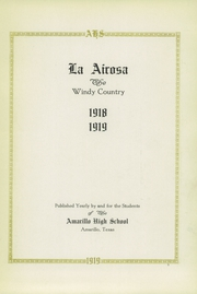 Page 7, 1919 Edition, Amarillo High School - La Airosa Yearbook (Amarillo, TX) online yearbook collection