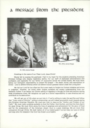 Page 14, 1973 Edition, American Chrsitian College - Torchbearer Yearbook (Tulsa, OK) online yearbook collection
