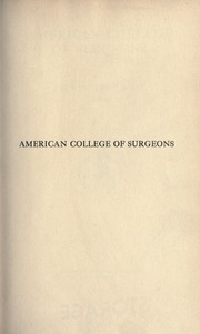 Page 9, 1916 Edition, American College of Surgeons - Yearbook (Chicago, IL) online yearbook collection