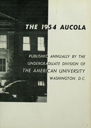 Page 7, 1954 Edition, American University - Talon / Aucola Yearbook (Washington, DC) online yearbook collection